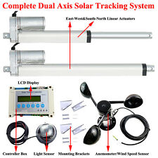 Set of Solar Track Tracker 5.7mm/s Linear Actuator LCD Controller Anemometer Kit