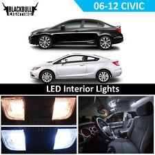 White LED Interior Lights Package Coupe Sedan for 2006-2012 Honda Civic 6 bulbs