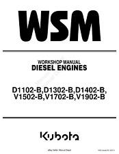 KUBOTA DIESEL ENGINE D1102 D1302 D1402 V1502 V1702 V1902 WORKSHOP MANUAL PRINTED