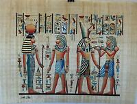"""NEW HAND PAINTED EGYPTIAN PAINTING ON PAPYRUS 12""""x16"""" A55"""