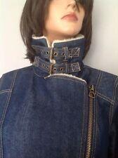 Jacket Jeans Denim Forever 21  Fashion Faux Fur Unique Style L Hip Chic