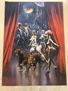 FRANK FRAZETTA Las Vegas No. 112  FANTASY Litho PRINT 17 X 23 Vintage Prints