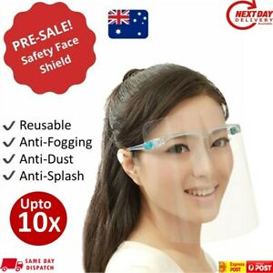 Reusable Face Shield Protective Film Clear Anti Fog Flip Up Visor Plastic Cover