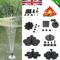 Solar Panel Powered Submersible Floating Fountain Garden Pool Pond Water Pump Q