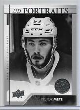 VICTOR METE 2017-18 UD #2 UD PORTRAITS SP INSERT RC/CANADA WJC GOLD/CANADIENS