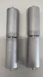 """Pair of 7"""" Aluminum Barrel Hinges with Plate"""