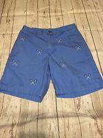 Vineyard Vines Breaker Shorts Lacrosse Pattern Aqua Blue Men's Size 30