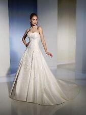 BNWT SOPHIA TOLLI WEDDING GOWN DRESS STYLE Y21154 SZ 14 IN IVORY *RETAIL $1395*