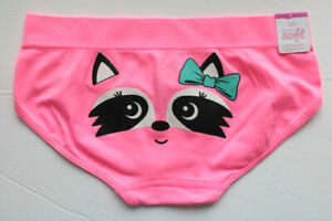 "Justice Girls' Glittery Racoon ""OH-SOsoft Breathable Boyshort"" - Sizes 8; 14-16"
