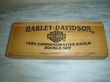Harley-Davidson Baron Limited Edition 1994 Commemorative Eagle Buckle Set 3 NOS