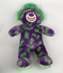 "Build A Bear Batman The Joker 19"" Stuffed Plush Bear"