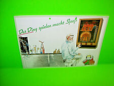 Hellomat Automaten DAS DING Original German Text Slot Machine Promo Sales Flyer