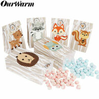 12x Safari Animals Paper Gift Bag Sweet Candy Bags woodland baby shower Gift Bag