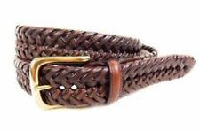 Tommy Hilfiger Brown Leather Braided Belt - Size 40