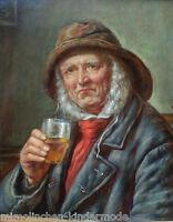 Alter Seemann von HVROY MELKUS (*1924 Zagreb) TOP Ölgemälde Portrait mit Flair