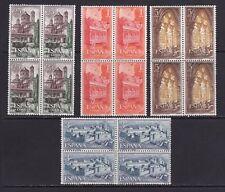 España 1963. Monasterio de Poblet bloque de 4. Ed 1494 / 1497. MNH. **.