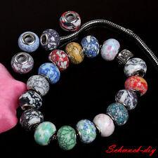 40stk. European Beads Howlith Türkis loose Perlen Charm f. Armband Halskette DIY