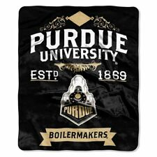 Purdue Boilermakers 50x60 NCAA Label Design Royal Plush Raschel Throw