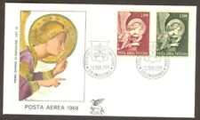 Vatican City Sc# C53-4, High Values, Angel Issue on First Day Cover