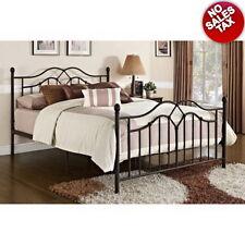 Queen Size Bed Frame Metal Bronze Bed Headboard Footboard  Bedroom Furniture NEW