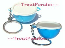 Tupperware Gadgets Keychains Lot Thatsa Bowl Jumbo Mega Bowl 2 Variations Blue