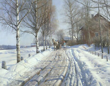Monsted Mork Peder Winter Scene Print 11 x 14 # 3535