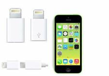 2pcs OEM 8-Pin adapter to Micro USB Converter charger fits iPhone 6 5 5S 5C ipad