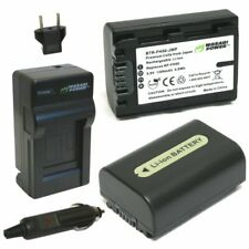Wasabi Power Battery (2-Pack) and Charger for Sony NP-FH50