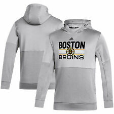 Boston Bruins adidas Hockey Grind Team Issue AEROREADY Pullover Hoodie - Gray