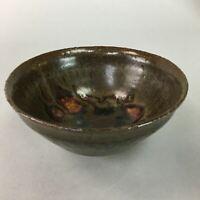 Japanese Tea Ceremony Bowl Ceramic Matcha Chawan Vtg Pottery Brown GTB591