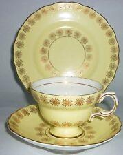 Rosina Platillo De Taza De Té Té Plato Art Deco Amarillo Rojo Oro Vintage China té de alta