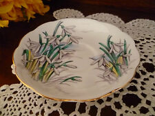 ROYAL ALBERT ENGLAND SAUCER ONLY 14CM SNOW DROP FLOWERS OF THE MONTH