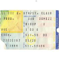 MOTLEY CRUE & SAXON & OZZY OSBOURNE Concert Ticket Stub CLEVELAND 5/10/84 Rare