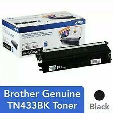Genuine Brother TN433BK Black High-Yield Toner IN FACTORY-SEALED WRAPPER NIOB