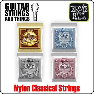 Ernie Ball Classical Nylon Earthwood & Ernesto Palla Guitar Strings 2403 2406