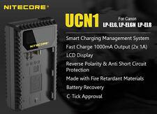 Nitecore UCN1 Canon LP-E6 LP-E6N LP-E8 USB Travel 1A Output Fast Battery Charger
