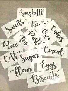 Mrs Hinch Cupboard Organiser sticker Label for Kitchen Glass Jars Tin Canisters