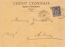 SAGE - ALEXANDRIE - EGYPTE - N°97 - LETTRE ENTETE CREDIT LYONNAIS- LE 1-4-1892