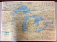 The Great Lakes Map (1987) The National Geographic Society OldPaperMaps.com