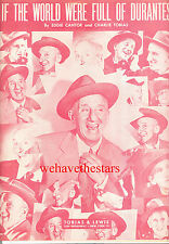 "Jimmy Durante Sheet Music ""If The World Were Full Of Durantes"" Cha.Cha 1951"