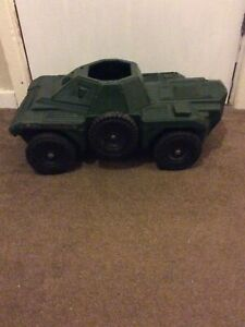 Vintage Large Action Man Irwin Armoured Scout Car With Spare Wheel