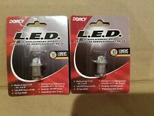 Dorcy LED 3V replacement bulb 30 Lumens - works on 2 cell AA, C, D Lot of 2 NEW!