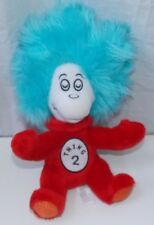 Dr Seuss Cat in The Hat Thing 2 Plush Bean Bag Rattle Baby Toy Rare Red