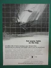 6/1972 PUB TELEDYNE RYAN AERONAUTICAL DOPPLER RADAR LOH AERIAL SCOUT ORIGINAL AD