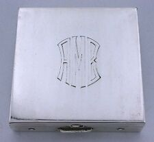 VOLUPTE MIRROR POWDER COMPACT VINTAGE 100 YEAR OLD ANTIQUE .925 STERLING SILVER