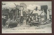 France ERCHEU Wrecked Sugar Refinery WW1 PPC