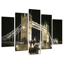 Cinque parte 5 CANVAS Wall Art Immagini Londra Città stampa 5023