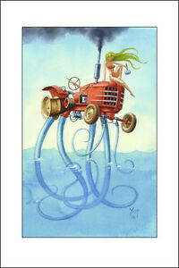 The Tractor Weirdo, Massey Harris with Tentacles,  Art  Print