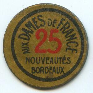 Francobollo Moneta Bordeaux Aux Donna Della Francia 25 Centesimi Blu Verde