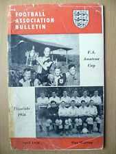 1956 FA Amateur CUP, Football Ass. Bulletin- MANCHESTER CITY v NEWCASTLE UNITED